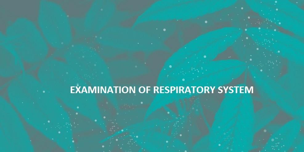 Examination of Respiratory System