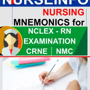 Nurseinfo Mnemonics for NCLEX-RN, CRNE AND NMC