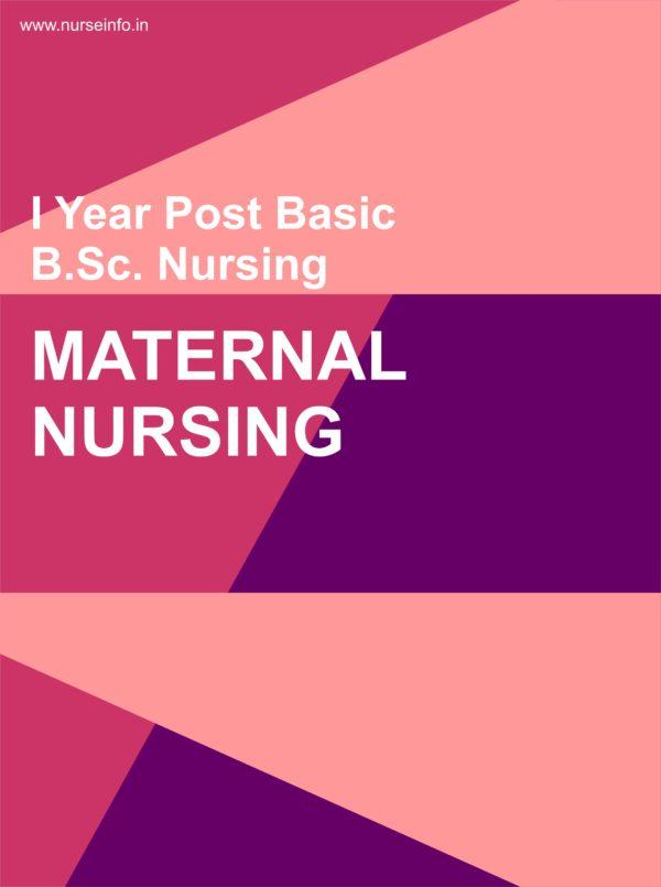 Maternal Nursing Notes, p.c. or p.b. bsc first year nursing