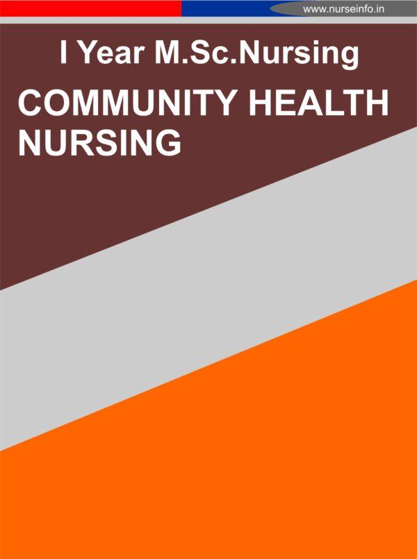 msc nursing, community health nursing notes