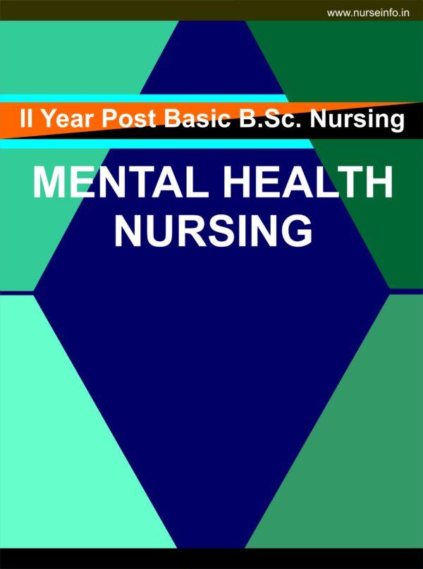 P.C. or P.B. BSC Nursing, Mental Health Nursing