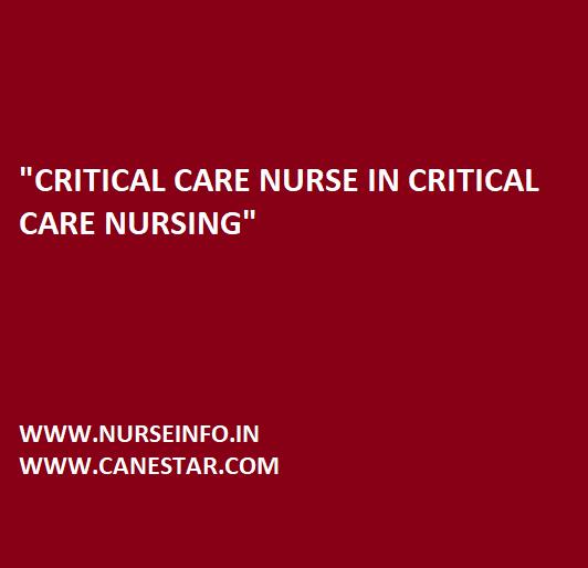 critical care nurse in critical care nursing