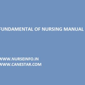 fundamental of nursing manual