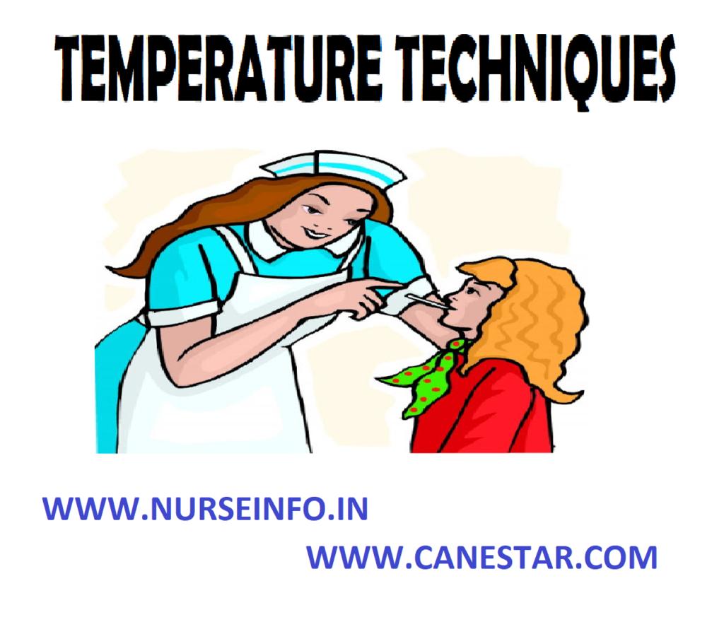 TEMPERATURE TECHNIQUES – Principles, Equipment and Procedure (COMMUNITY HEALTH NURSING)
