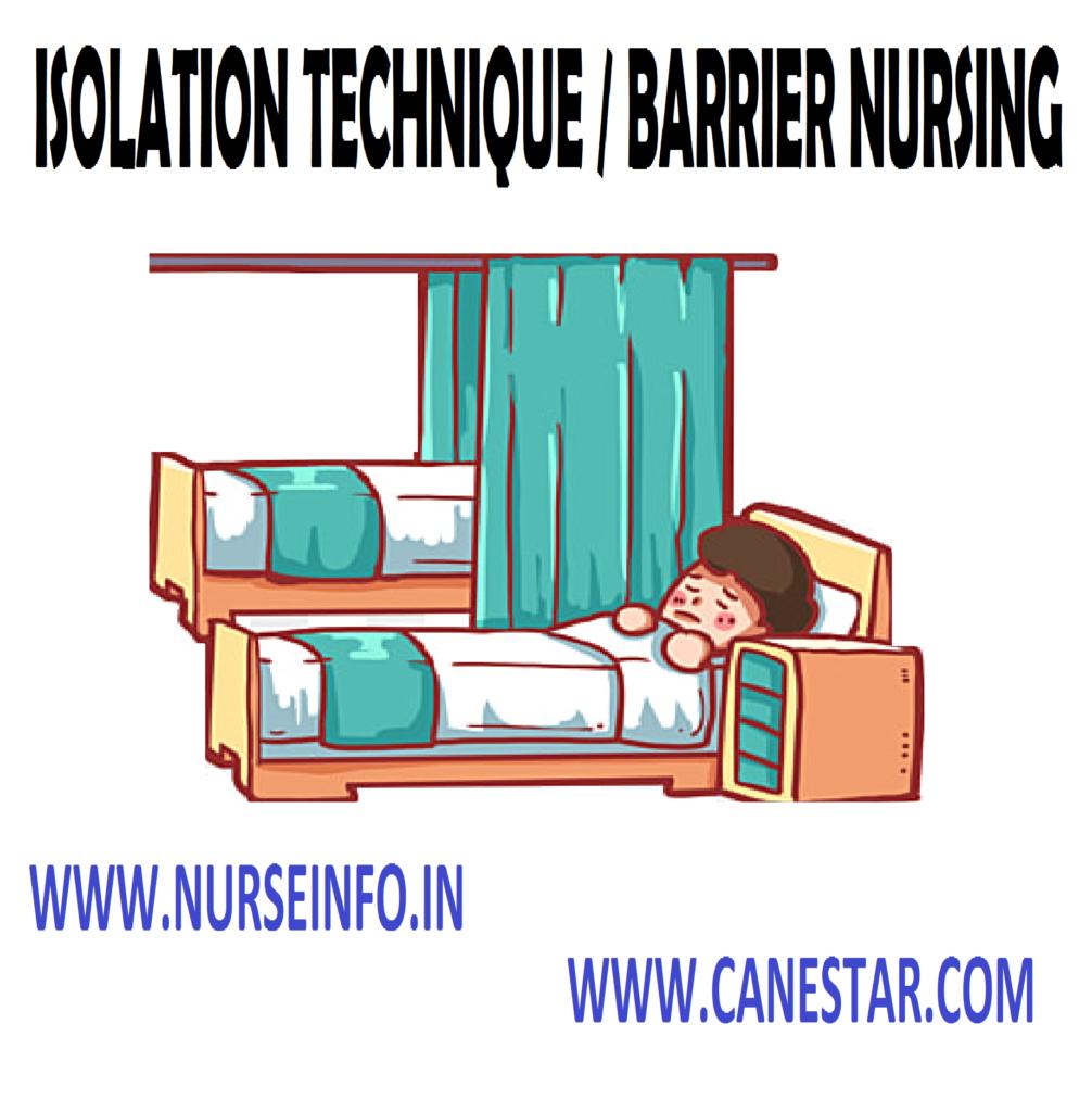 Isolation Technique / Barrier Nursing - Definition, Purpose, General Instructions