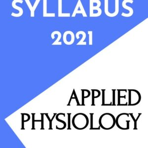 Applied Physiology Notes/Book (PDF) for Nurses - Revised INC Syllabus 2021