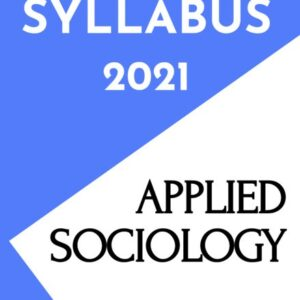 Applied Sociology Notes/Book (PDF) - Revised INC Syllabus for Nurses 2021